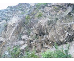 Galvanized Wire Rope Net Two Layers Protect The Mountain And Slope