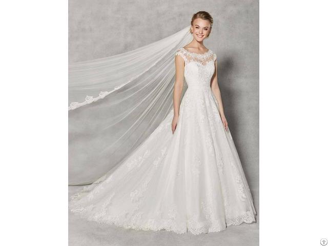 Spring Elegant Wedding Dress A Line