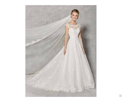 Spring Elegant Wedding Dress A Line