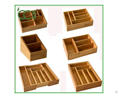 Bamboo Storage Box Drawer Organizer