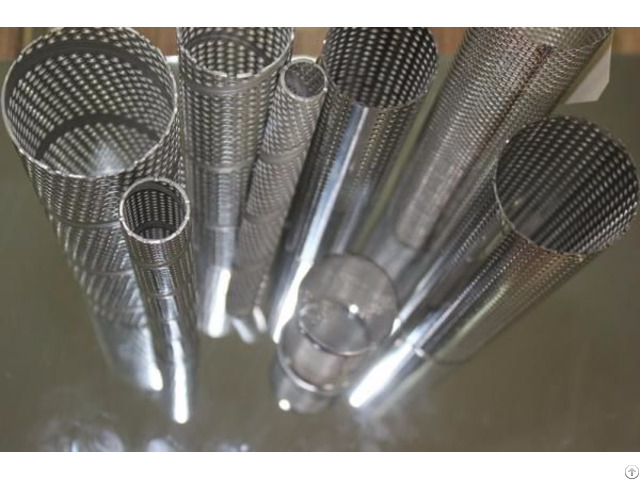 Perforated Steel Round Tube For Filters