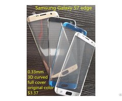3d Curved Full Cover 9h Tempered Glass Screen Protector For Samsung S7 Edge