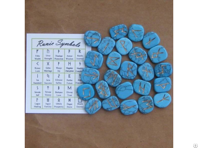 Rune Stone Set Turquoise