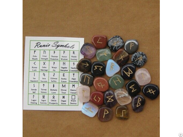 Wholesale Assorted Mixed Gemstone Runes