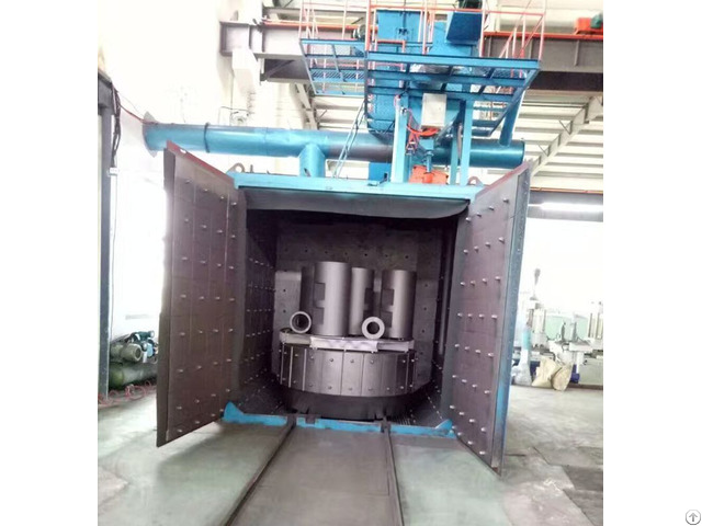 Swing Table Shot Blasting Machine For Iron