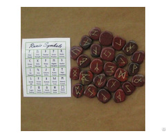 Wholesale Crystal Gemstone Rainbow Obsidian Rune Set