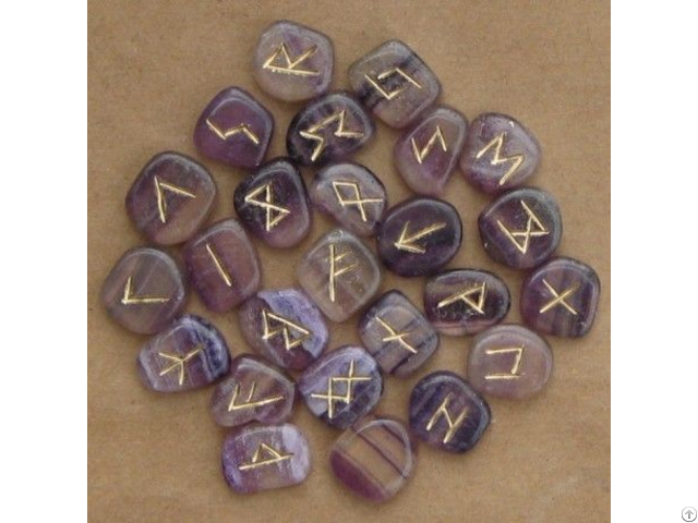 Highly Polished Crystal Rune Stones