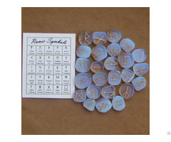 Wholesale Gemstone Opalite Rune Set
