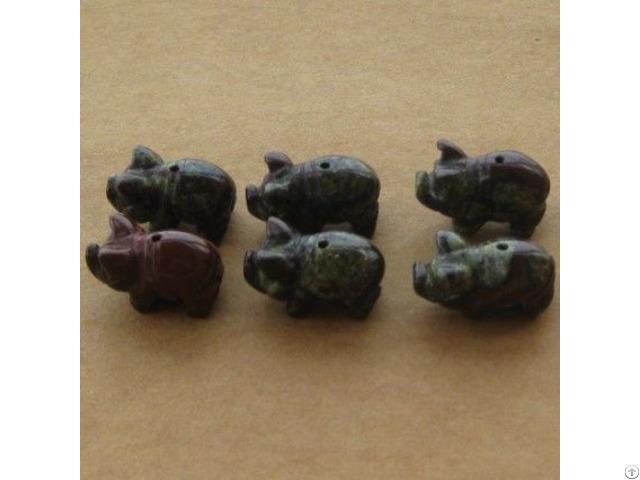 Wholesale Carved Gemstone Animals Beads