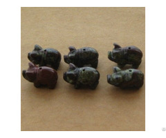 Wholesale Carved Gemstone Animals Beads