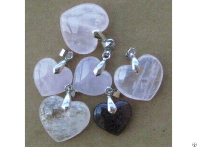 Wholesale Gemstone Hearts Pendants