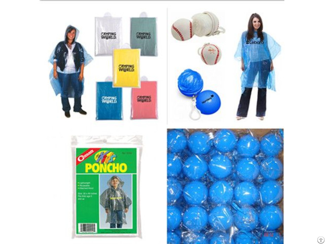 Wholesale Logo Pe Emergency Disposable Rain Poncho