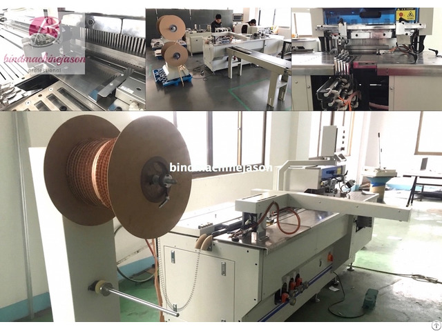 Wire Binding Equipment Pbw580 Inline With Hole Punching