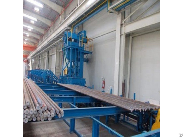 Steel Bar Shot Blasting Machine Polishing Preparation