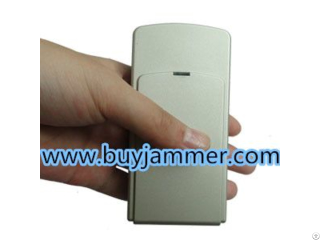 Mini Portable Double Frequency Gps Jammer With Built In Antenna Light Brown