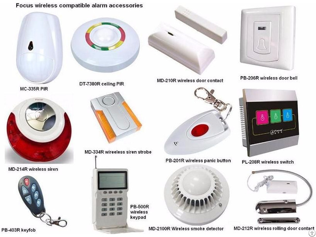 Wireless Glass Break Detector Focus Brand Alarm Control Panel