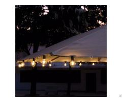Decorative G40 Clear Bulb Umbrella Light String 25ct Kf41027