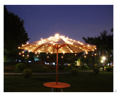 Solar Powered 150 L Shooting Star Umbrella Light Kf90018
