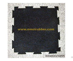 Interlocking Black Rubber Tile For Gym