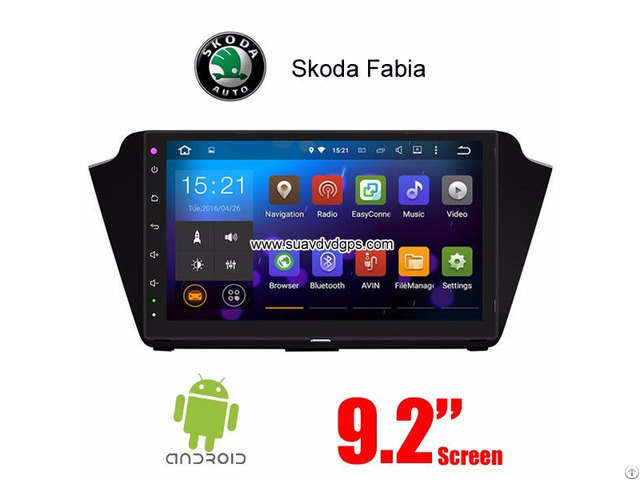 Skoda Fabia 2015 2016 Car Radio Android Wifi Gps Navigation Camera