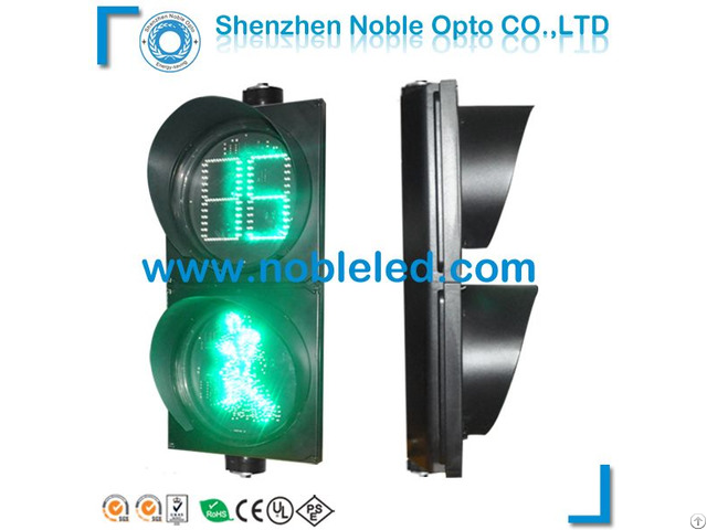 300mm Pedestrian Crossing Led Traffic Light With Counter