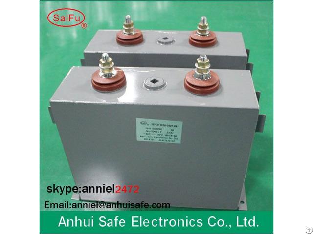 Oil Leakage Film Dc Capacitor 200uf 2500vdc Anti Explosion Aluminum Case