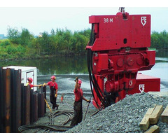 Used Vibro Hammer Pve 38m To Work On A Crane Or Piling Rig
