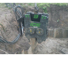 Used Vibro Hammer Ice Emv9 Excavator Mounted