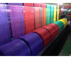 Raschel Mesh Bags On Roll For Packing Fruits Vegetable And Other Food