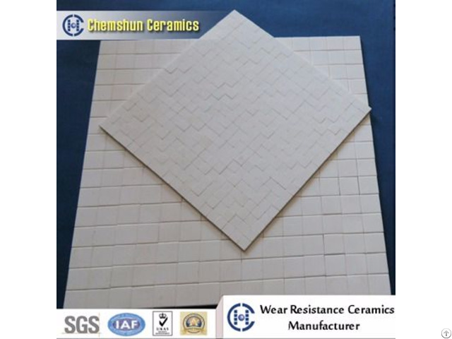 92% And 95% Alumina Ceramic Wear Resistant Rectangle Mosaic Tile Mat