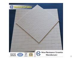 92% And 95% Alumina Ceramic Wear Resistant Rectangle Mosaic Tile Mat