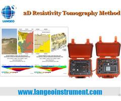 Langeo Wgmd 60 2d Resistivity Tomography System