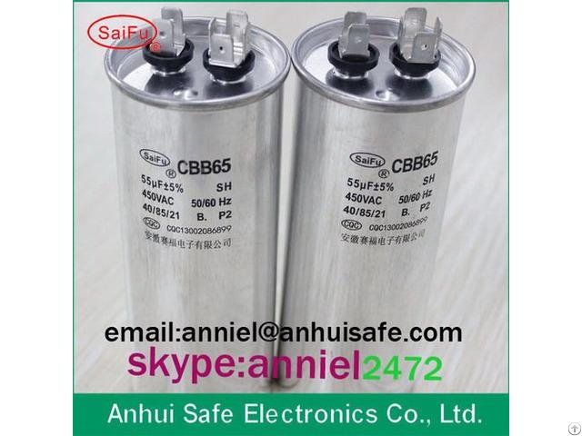 Ac Motor Run Air Conditioner Compressor Cbb65 100uf Sh Oil Capacitor