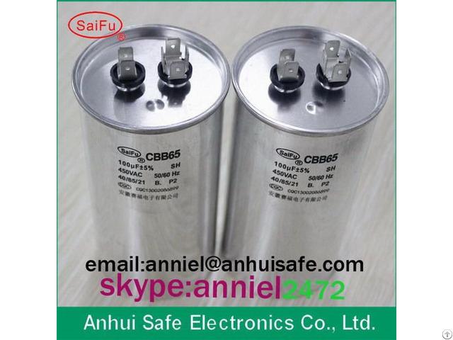 Cbb65 Capacitor With 250v 370v 440v 450v 500v