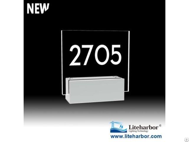 Liteharbor Doorplate Led Wall Sconce Light