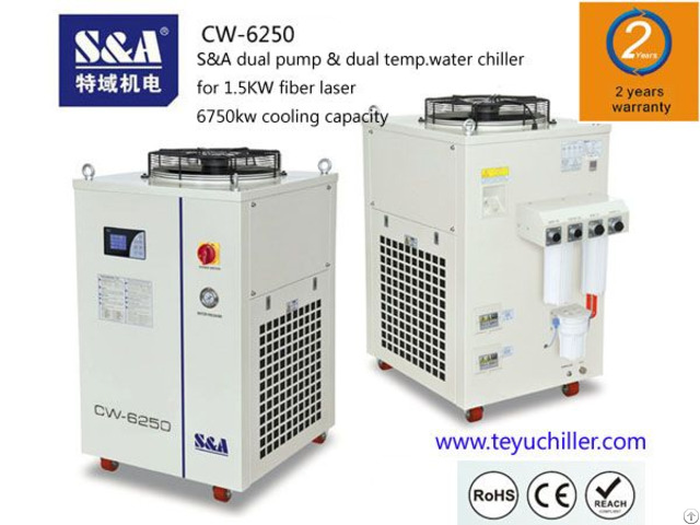 S And A Dual Temp Chiller Cw 6250 Is Used For Laser Ipg 1500w