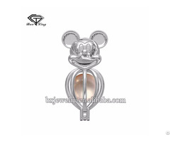 Most Popular Items Promotional Fashion Fine Silver Mickey Cage Pendant