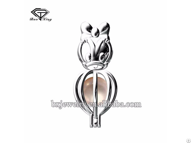 Hot New Products Fantastic Artificial Pearl Donald Duck Cage Pendant