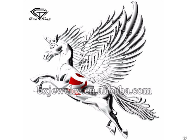Trending Products Fashion Charm 925 Silver Unicorn Cage Pendant With Wing