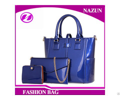 Factory Custom Lady Handbags Beautiful Pu Leather Fashion Bag Set