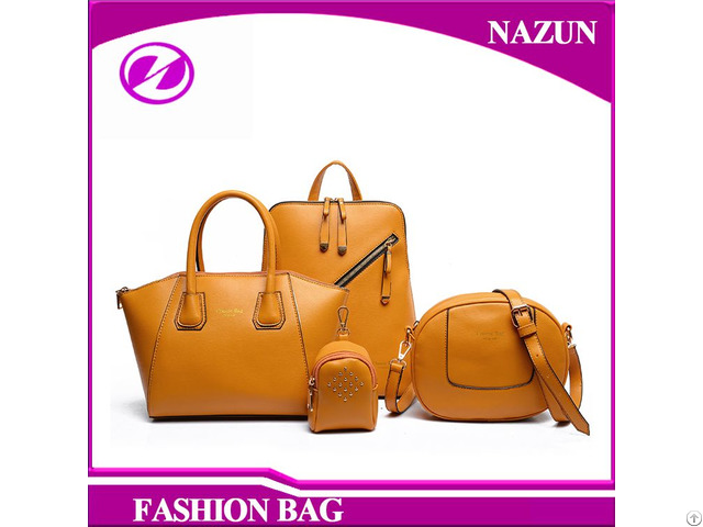 Fashion Designer 100% Handmade Pu Leather Ladies Bags
