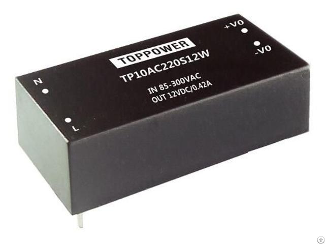 Tp10ac220s05w 10w 4kv Isolation Wide Input Ac Dc Converters