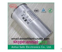 Aluminum Case Round Cbb65 Capacitor 10uf To 60uf 250vac 450vac 550vac 650vac