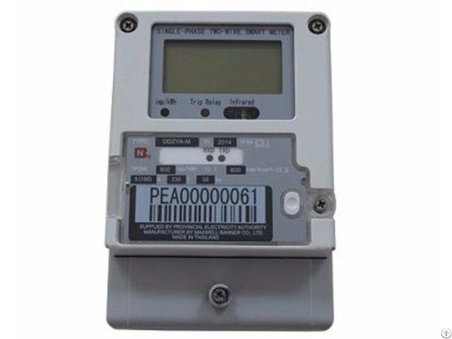 Single Phase Charge Control Smart Electricity Meter