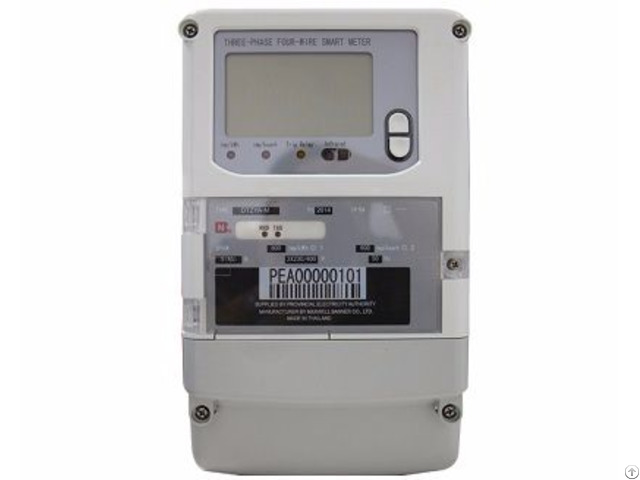 Three Phase Local Charge Controlled Smart Electric Energy Meter