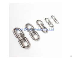 Strong Stainless Steel Chain Eye Double Swivel
