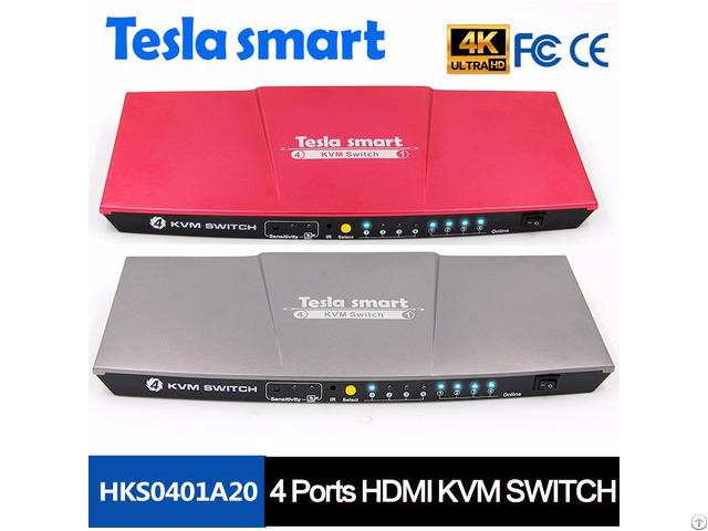 4k 4 Ports Hdmi Kvm Switch Edid With Additional Usb Port