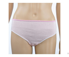 100% Cotton Disposable Female Briefs For Hospital Stay