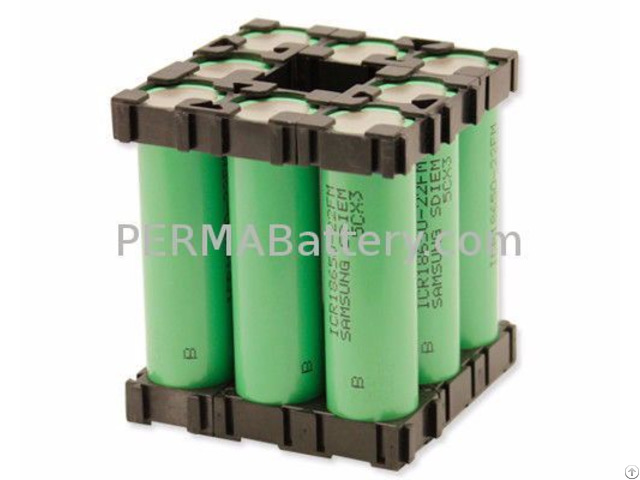 Li Ion Battery Pack 18650 3 7v 17 6ah With Pcm And Plastic Holder