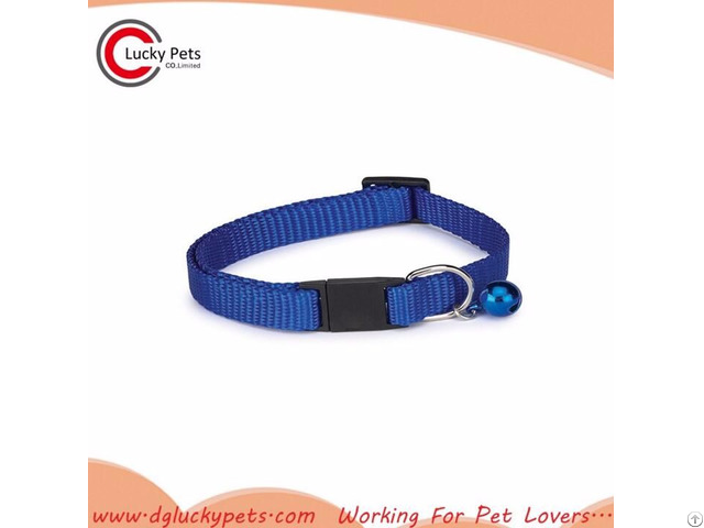 Plain Cat Collar With Plastic Adjustable Buckle